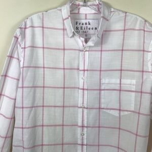 "Men's Frank & Eileen ""Don"" Windowpane Shirt Small"